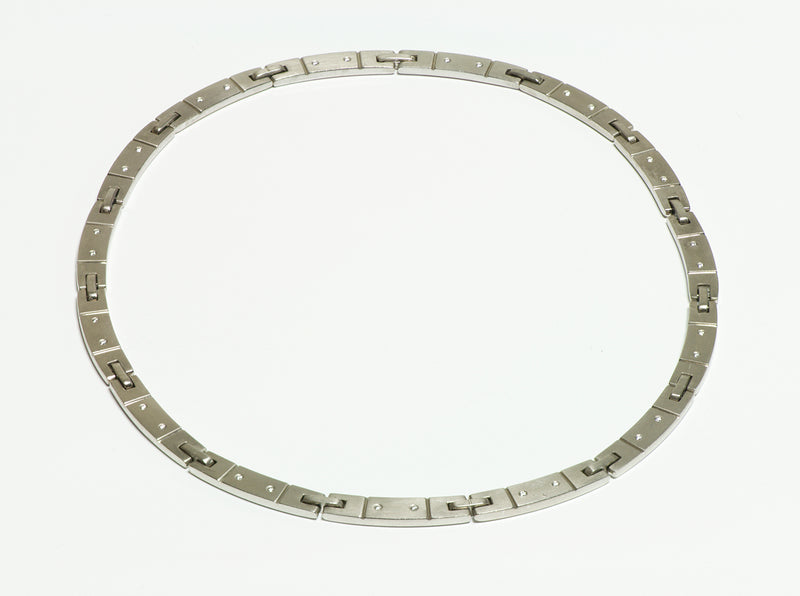 Tiffany & Co. 18K White Gold Diamond Collar