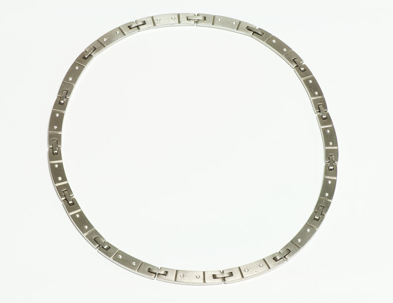 Tiffany & Co. 18K Gold Diamond Necklace Collar