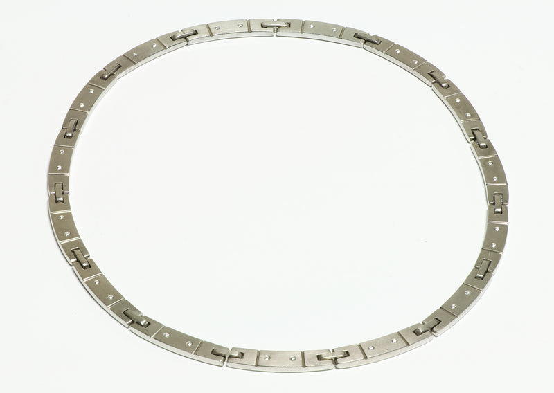Tiffany & Co Gold Diamond Collar Necklace