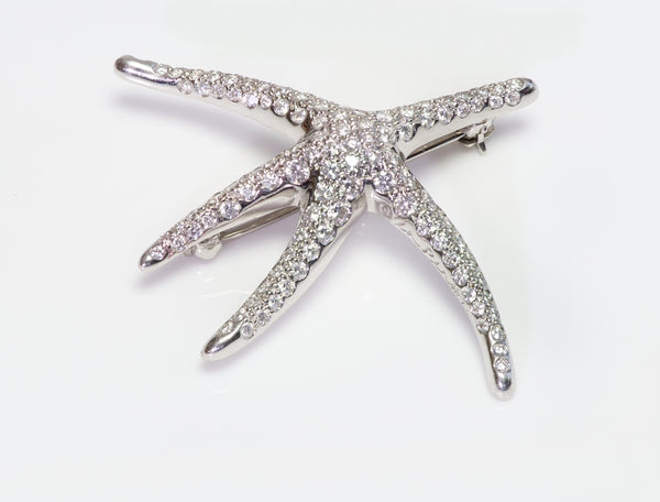 Tiffany Co. Elsa Peretti  Diamond Starfish Brooch