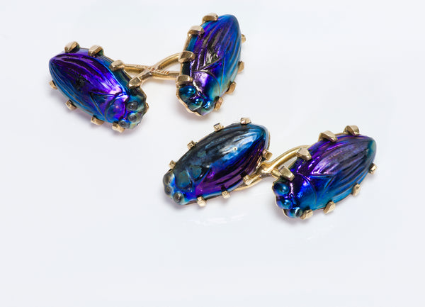 Tiffany & Co. Scarab Cufflinks Gold