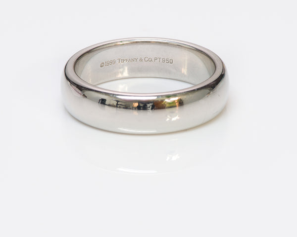 Tiffany &  Co. Lucida Men's Platinum Wedding Band Ring