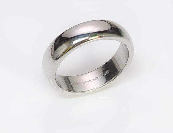 Tiffany &  Co. Wide Lucida Men's Platinum Wedding Band Ring