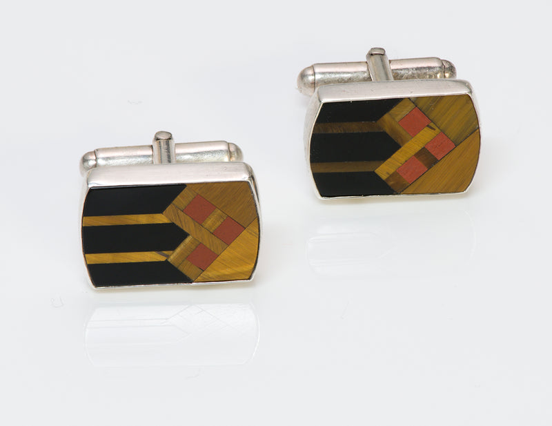 Tiger Eye Onyx Cufflinks