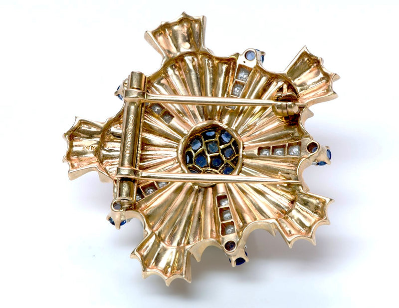 Tiffany & Co. Starburst Sapphire Gold Pin Brooch