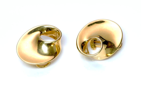 Georg Jensen Torun Gold Earrings