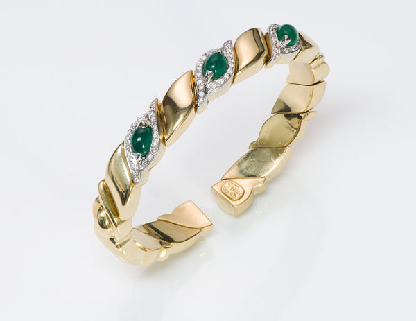 Trèsor 18K Gold Emerald Diamond Bracelet