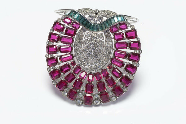 Trifari KTF 1930's Alfred Philippe Crystal Brooch