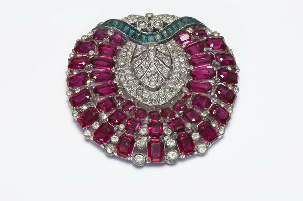 Trifari KTF 1930's Alfred Philippe Crystal Dress Clip Brooch