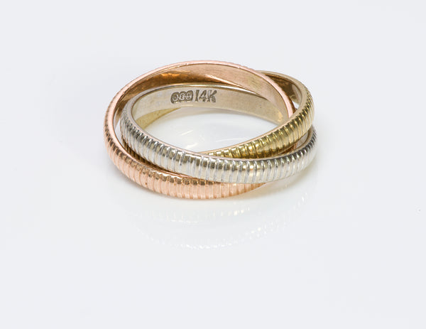 Trinity Gold Band Ring