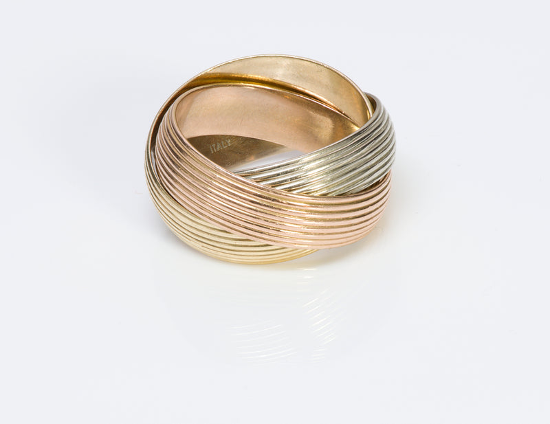Trinity Wide Gold Band Ring