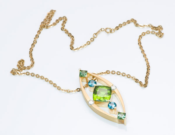 Troels D. Larsen Gold Gemstone Necklace