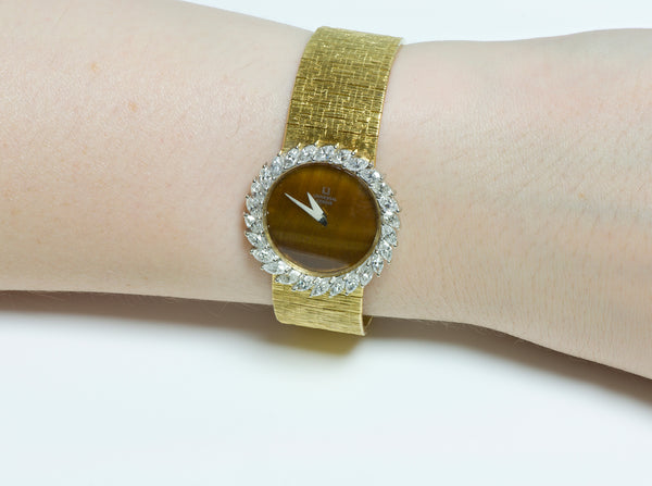 Vintage Universal Geneve Gold Diamond Watch