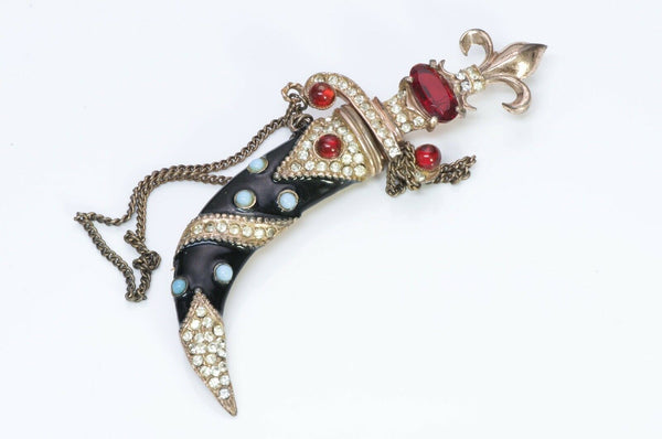 Urie Mandle Murray Slater Sterling Dagger Sheath Brooch