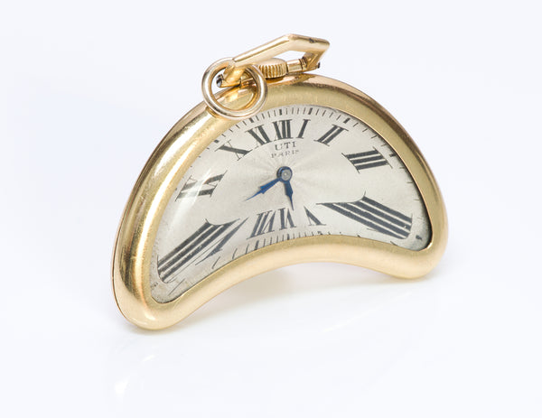 UTI Paris 18K Gold Pocket Watch