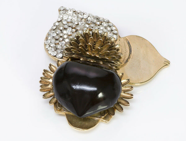 VALENTINO Garavani Couture Glass Chestnut Brooch