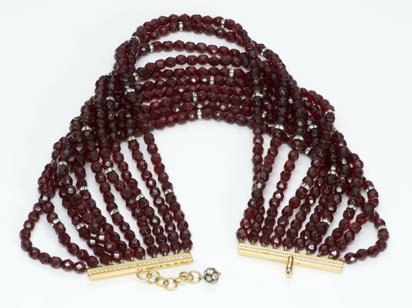 VALENTINO Garavani Red Beads Choker Necklace