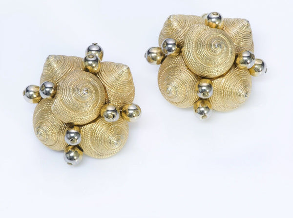 VALENTINO Garavani Textured Shell Earrings France