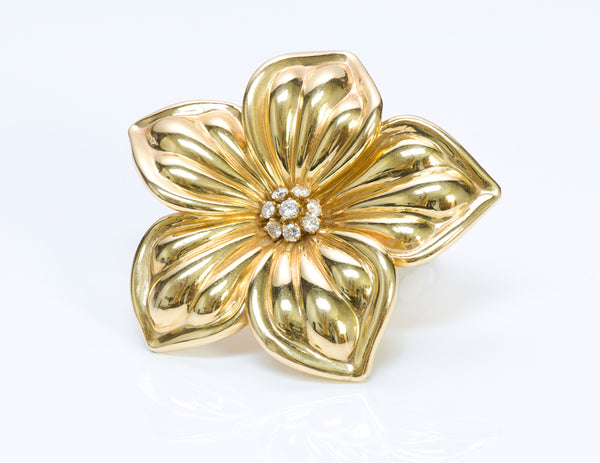 Van Cleef & Arpels 18K Gold Diamond Brooch