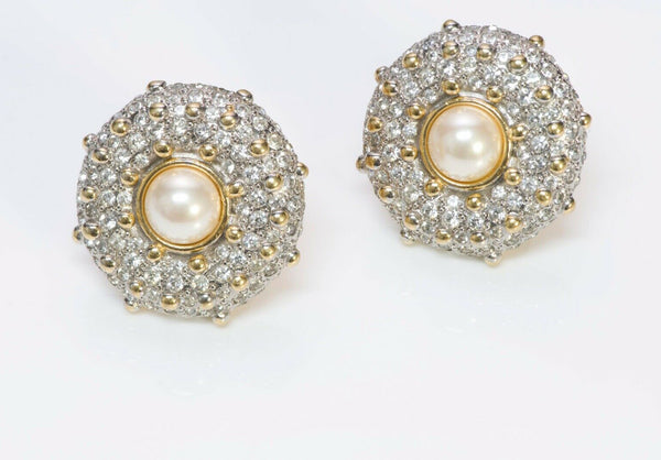 Valentino Garavani Pearl Crystal Earrings