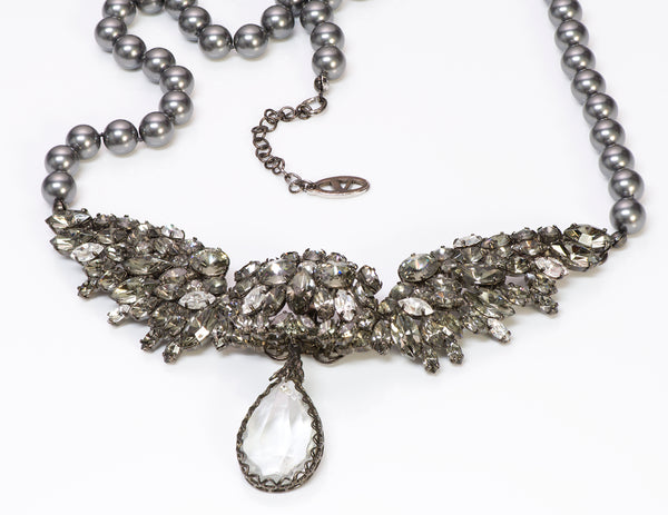 Valentino Garavani Couture Wing Gray Pearl Necklace