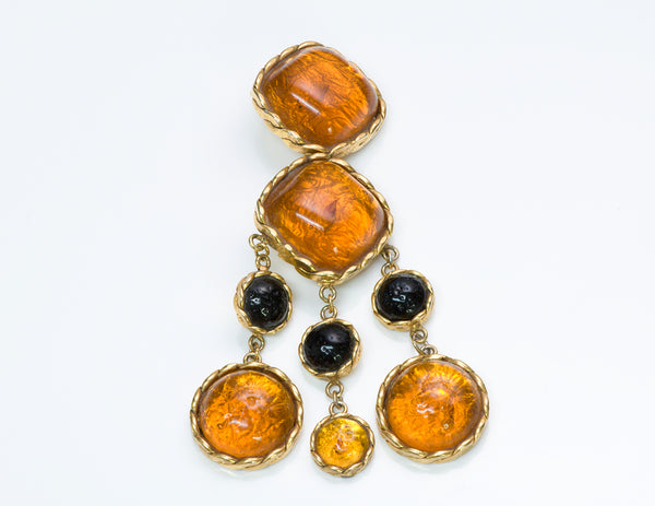 Maison Gripoix for Valentino Garavani Couture Poured Glass Brooch