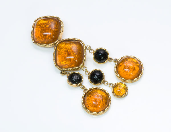Maison Gripoix for Valentino Garavani Poured Glass Brooch