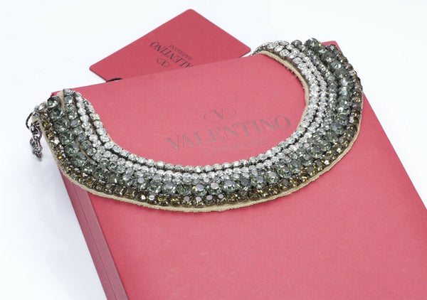 Valentino Garavani Crystal Beaded Bib Necklace1