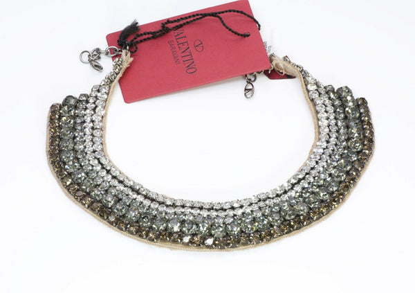 Valentino Garavani Crystal Beaded Bib Necklace