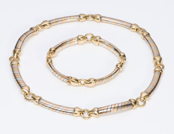 Van Cleef & Arpels 18K Gold & Silver Necklace Bracelet