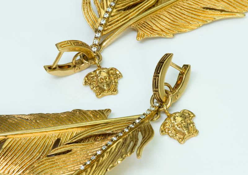 Versace Feather Medusa Earrings