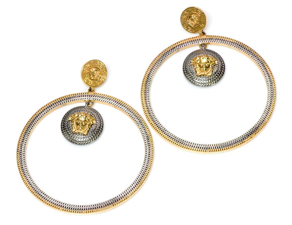 Versace Medusa Hoop Earrings