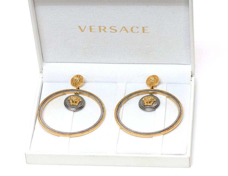 Versace Medusa Hoop Earrings 2