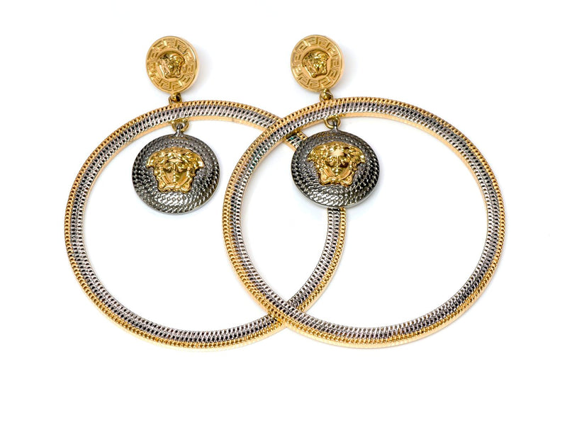 Versace Medusa Hoop Earrings 1
