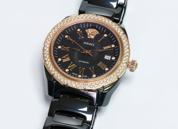 Versace Ceramic Diamond Automatic Watch 01AC9