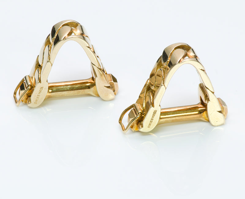 Cartier Stirrup Gold Cufflinks