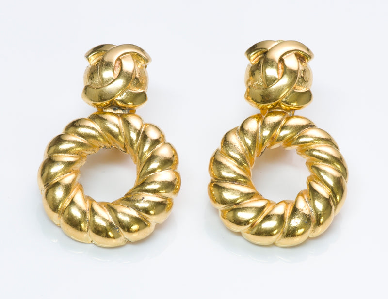 Chanel CC Hoop Earrings