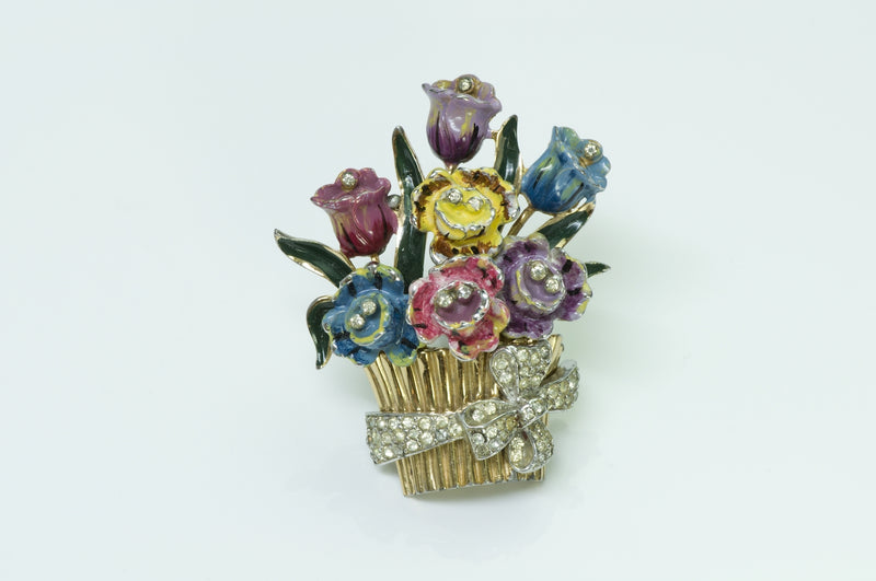 Vintage Costume Jewelry Flower Brooch