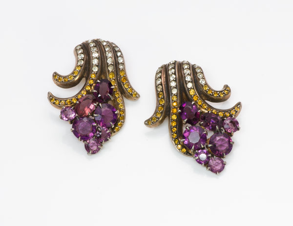 Vintage 1940's Crystal Earrings