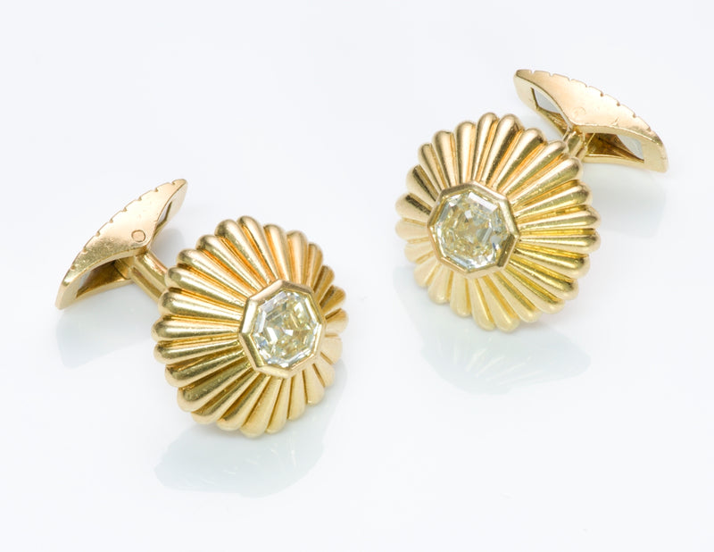 Gold Diamond Cufflinks