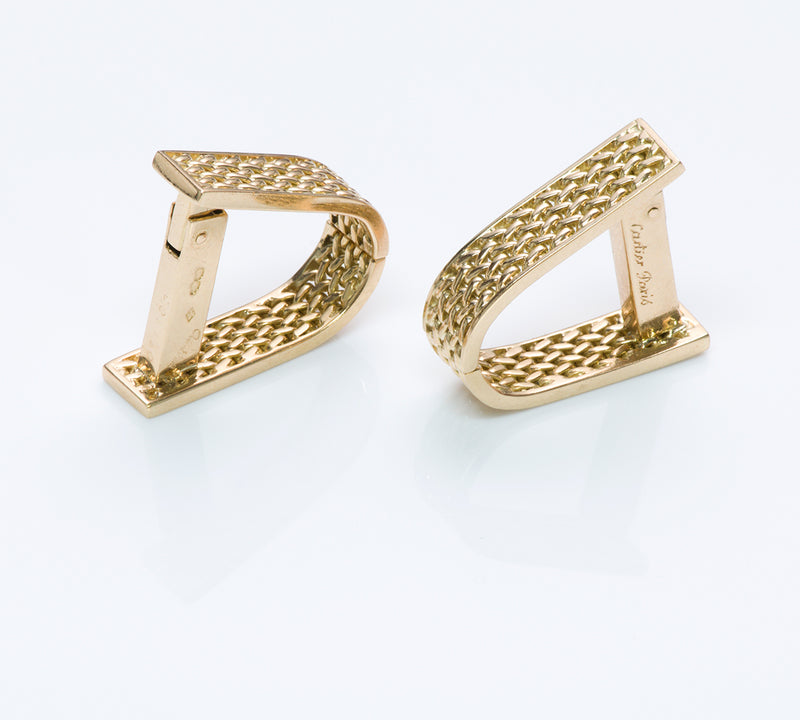 Cartier Paris 18K Gold Cufflinks