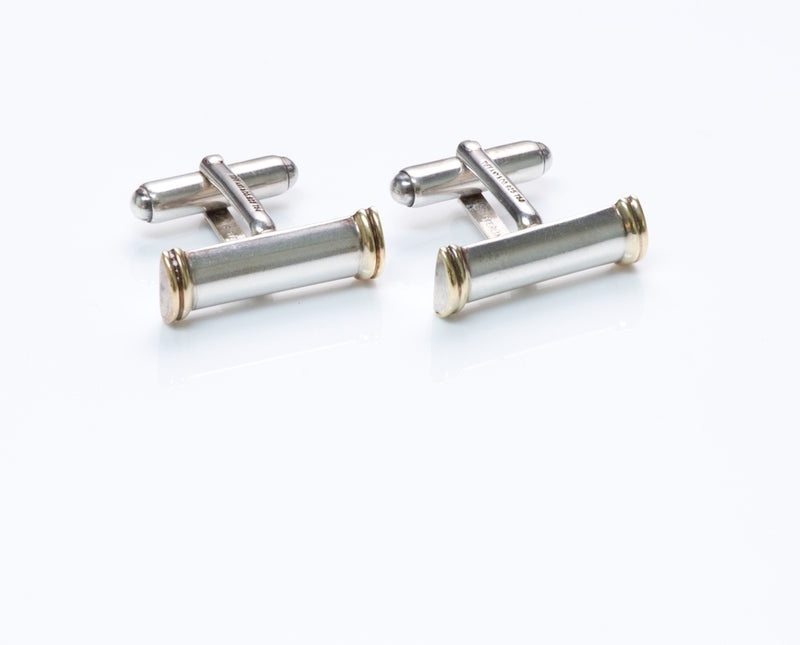 Vintage Tiffany & Co. Silver Gold Cufflinks