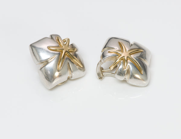 Tiffany & Co. Sterling & 18K Gold Earrings