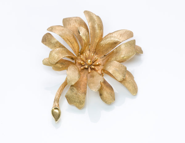 Tiffany Gold Flower Pin