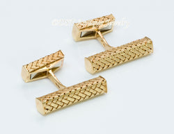 Tiffany & Co. Gold Woven Cufflinks