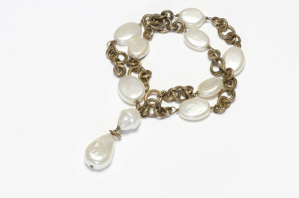 Vintage 1983 CHANEL Paris Pearl Chain Necklace