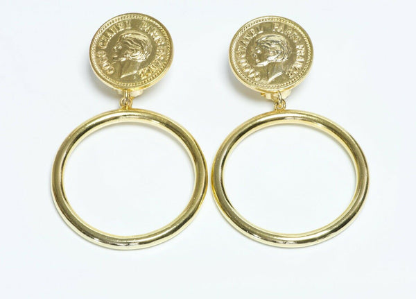 CHANEL Coco Mademoiselle Coin Hoop Earrings