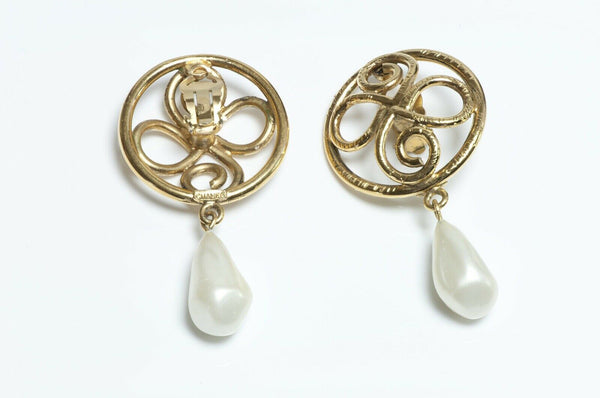 Vintage CHANEL Pearl Drop Earrings