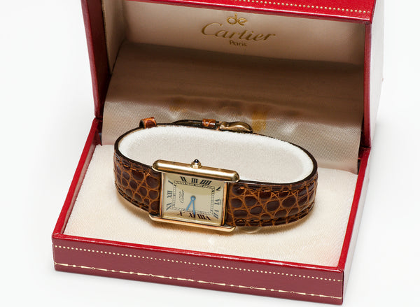 Cartier Tank Gold Plated S Watch