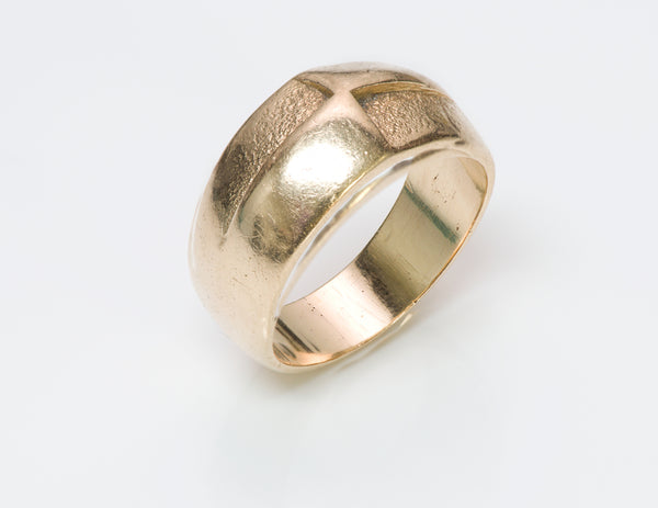 Henry Steig Arts Crafts Gold Men Ring